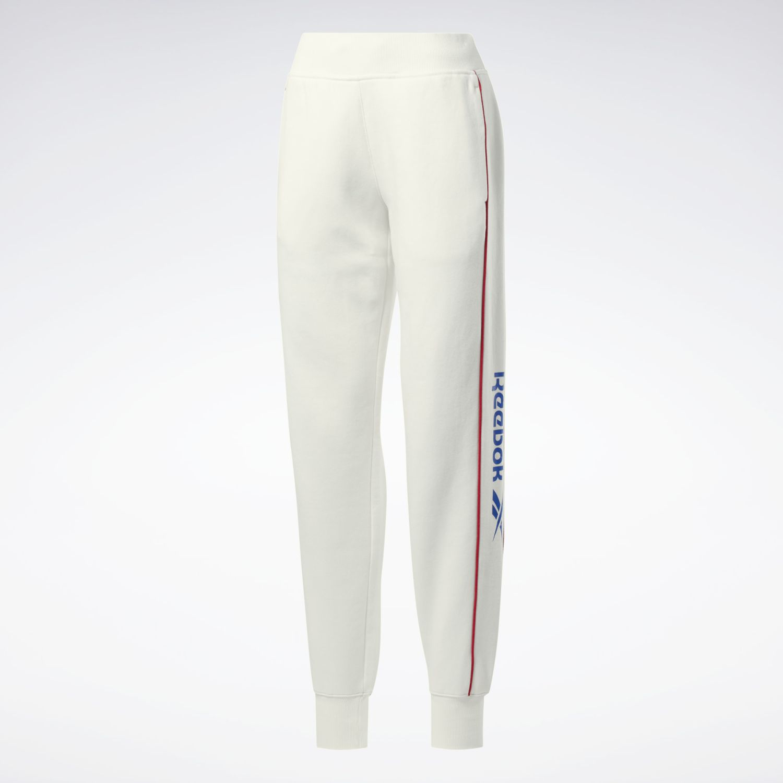 Reebok Cl F Linear Pant Blanco Pantalones deportivos