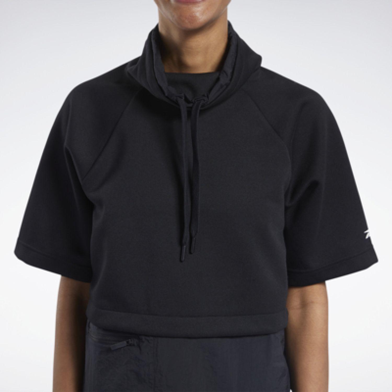 Reebok Ts Ss Cowl Sweatshirt Negro Hoodies deportivos