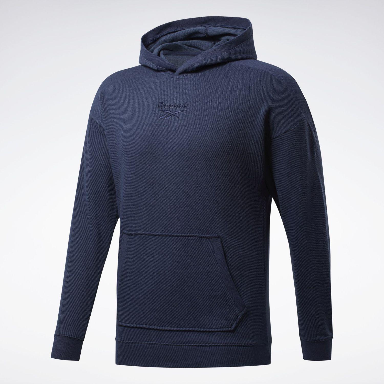Reebok Te Melange Hoodie Navy / Blanco Hoodies deportivos
