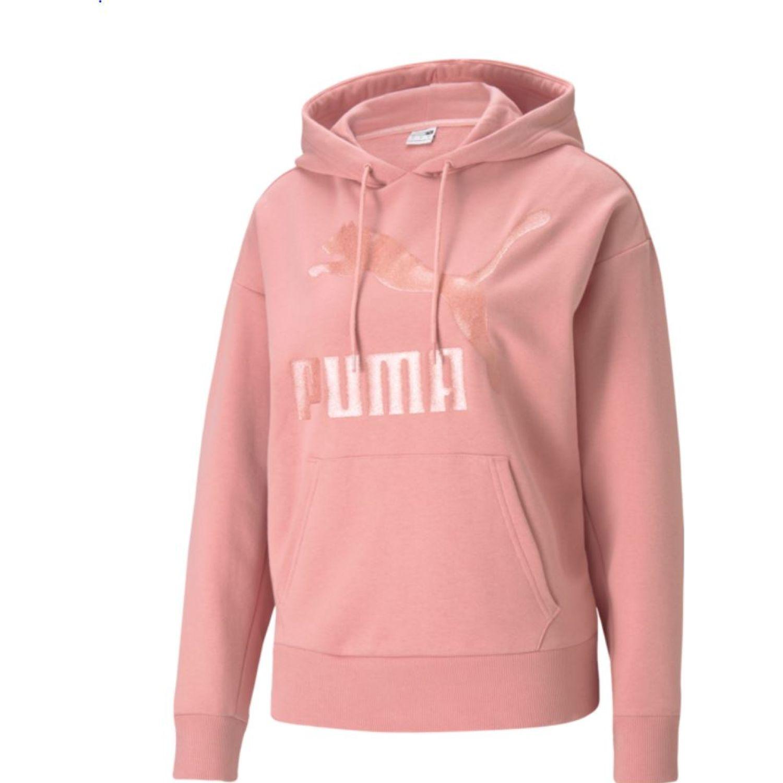 Puma Classics Logo Hoody Regular Fit Rosado