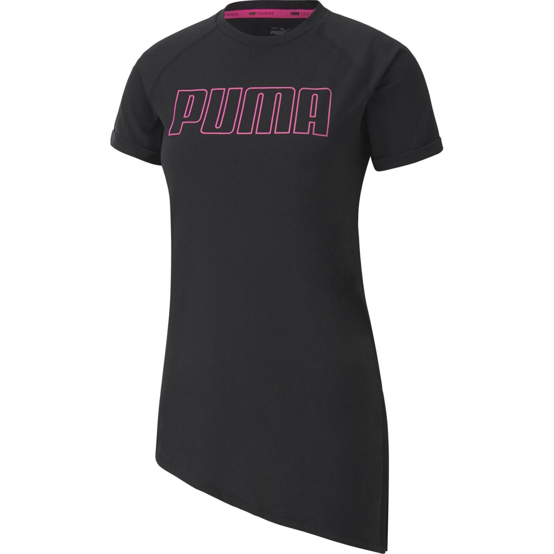 Puma Train Graphic Logo Ss Tee Negro Camisetas y polos deportivos