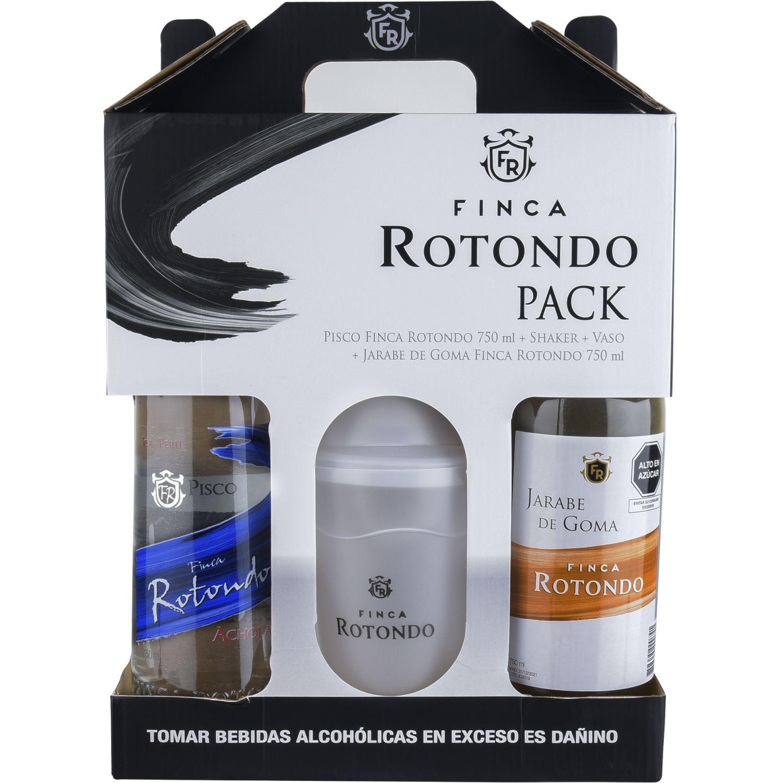 FINCA ROTONDO Pack Pisco Acholado+coctelera+vaso Sin color Brandy y aguardientes