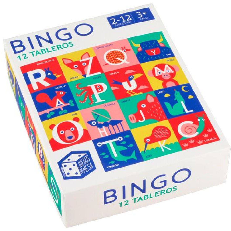 Casaideas Bingo 12 Tableros de Cartón MULTICOLOR Juegos de mesa