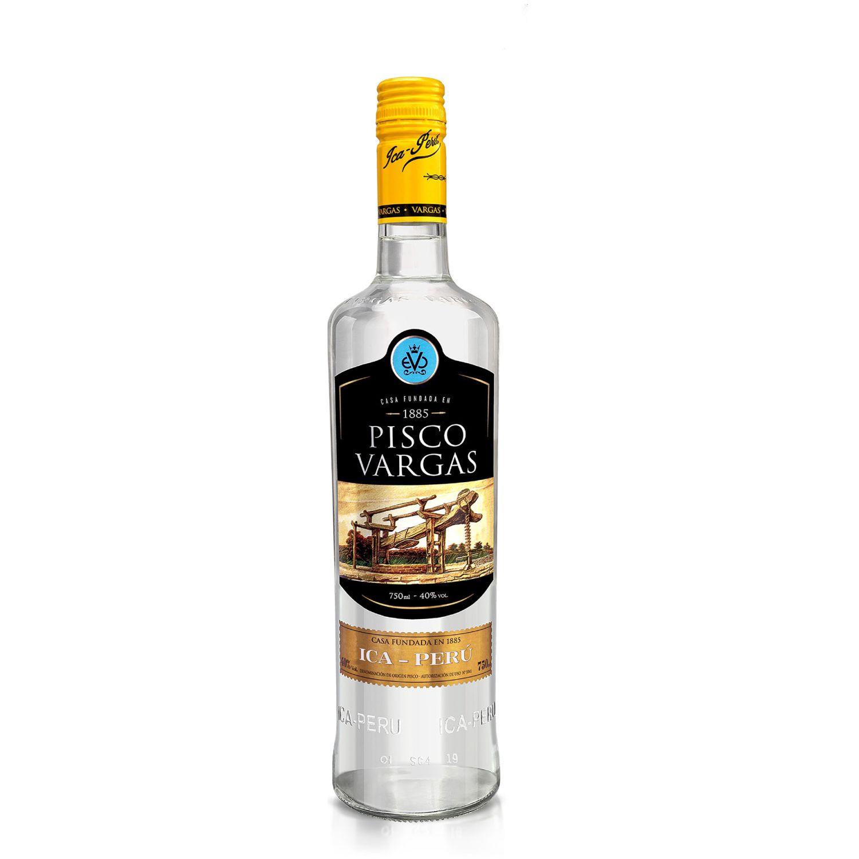 PISCO VARGAS Pisco Acholado Ica - Perú Sin color Brandy y aguardientes