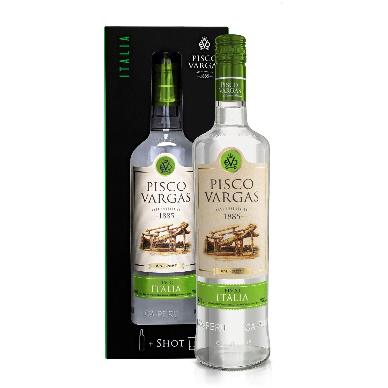 PISCO VARGAS Reserva Privada Italia Sin color Brandy y aguardientes