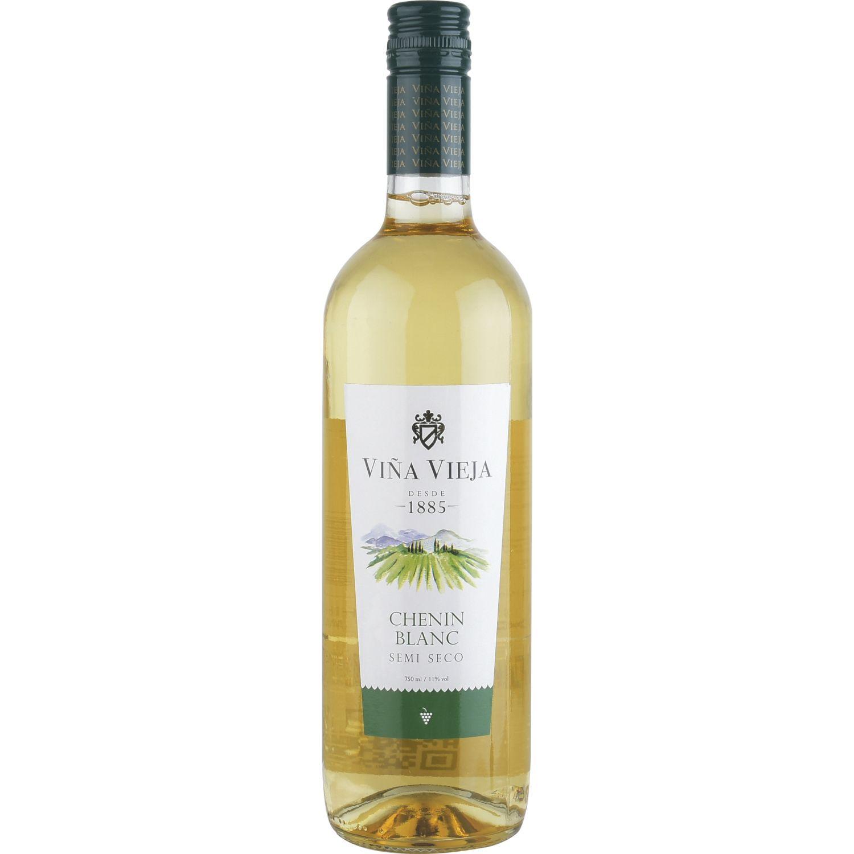 VIÑA VIEJA VINO CHENIN BLANC SEMISECO Sin color Vino Blanco