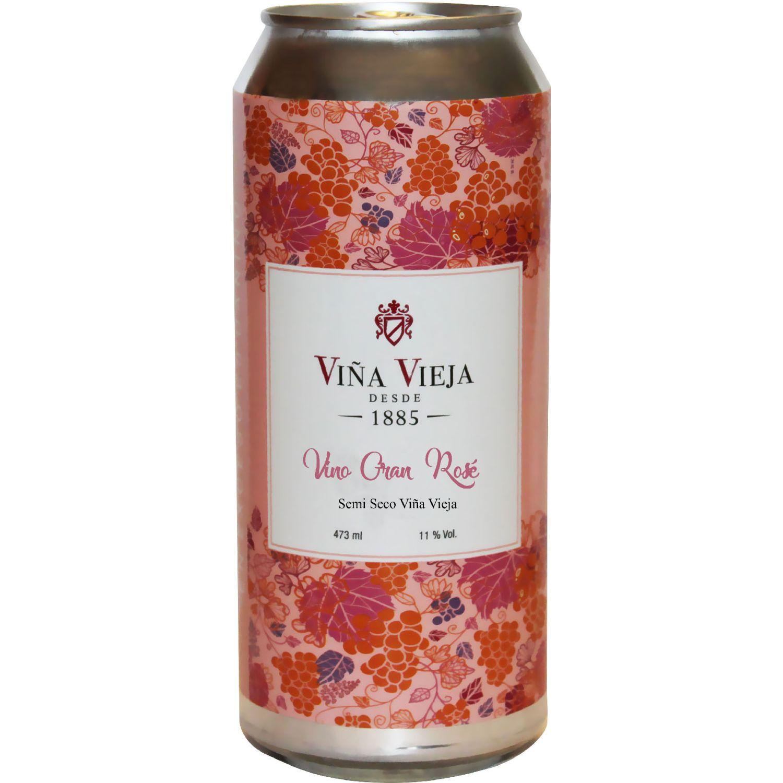 VIÑA VIEJA VINO ROSE GASIFICADO EN LATA Sin color Vino Rosé
