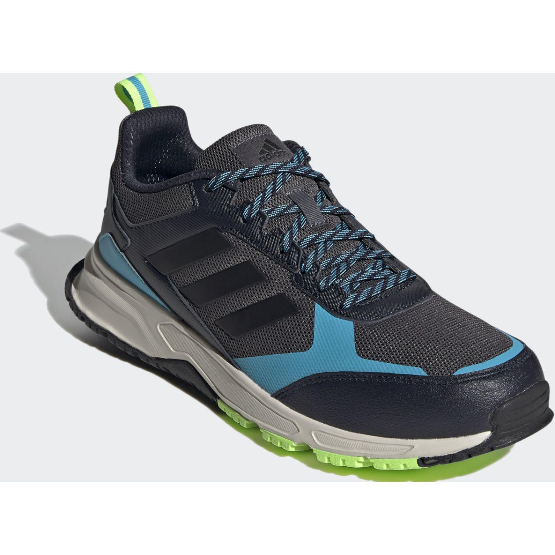 Adidas Rockadia Trail 3.0 PLOMO / CELESTE Running en pista