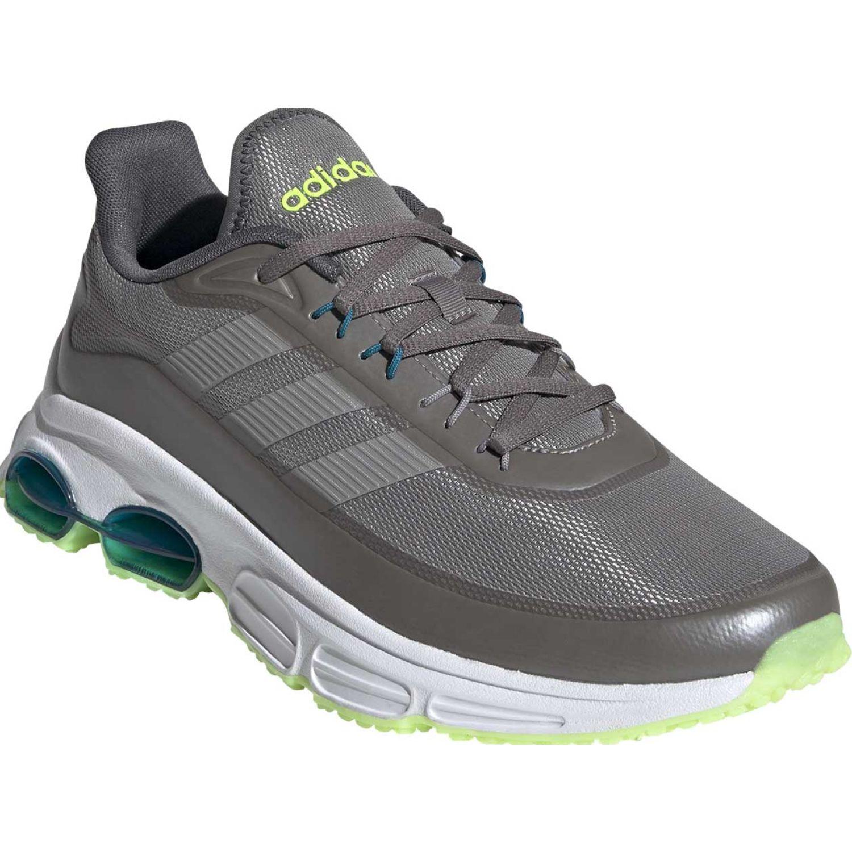 Adidas Quadcube Gris Running en pista