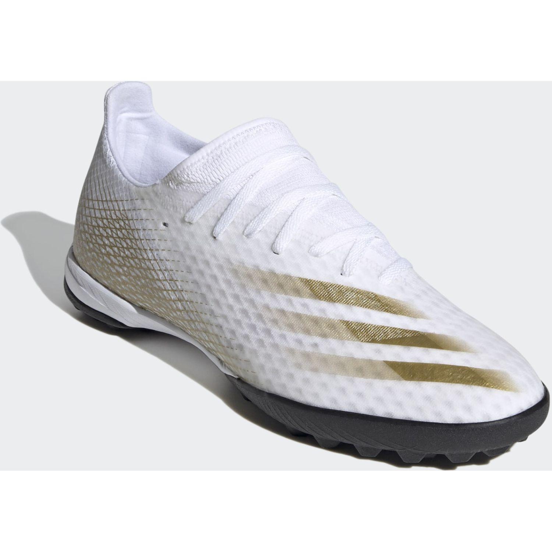 Adidas X GHOSTED.3 TF Blanco / dorado Hombres