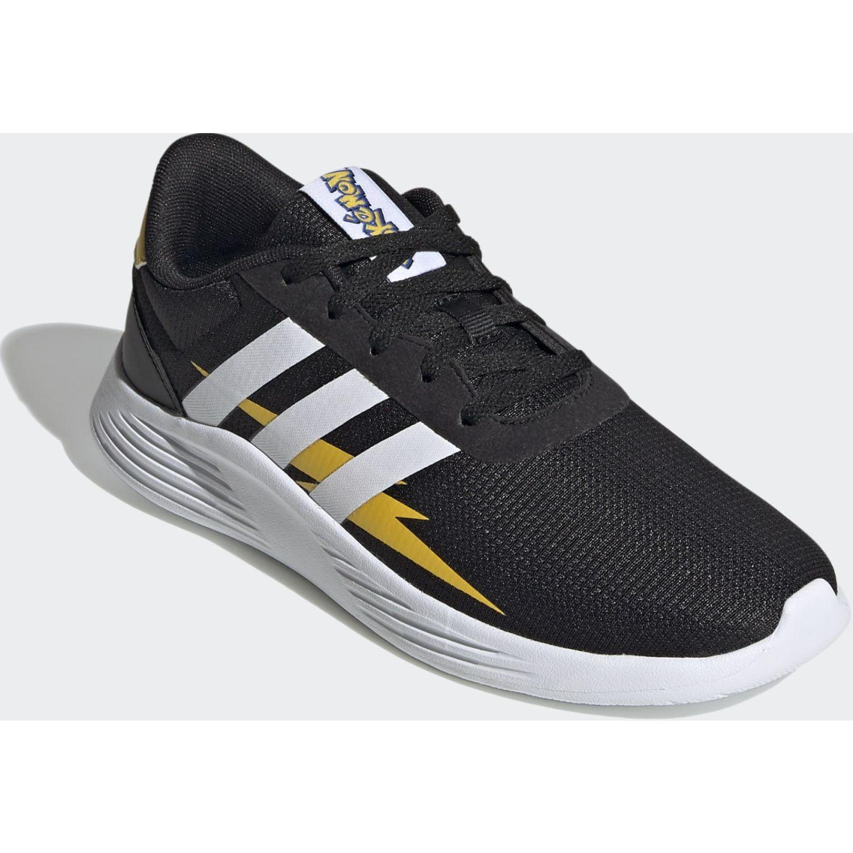 Adidas Lite Racer 2.0 K Negro / amarillo Muchachos