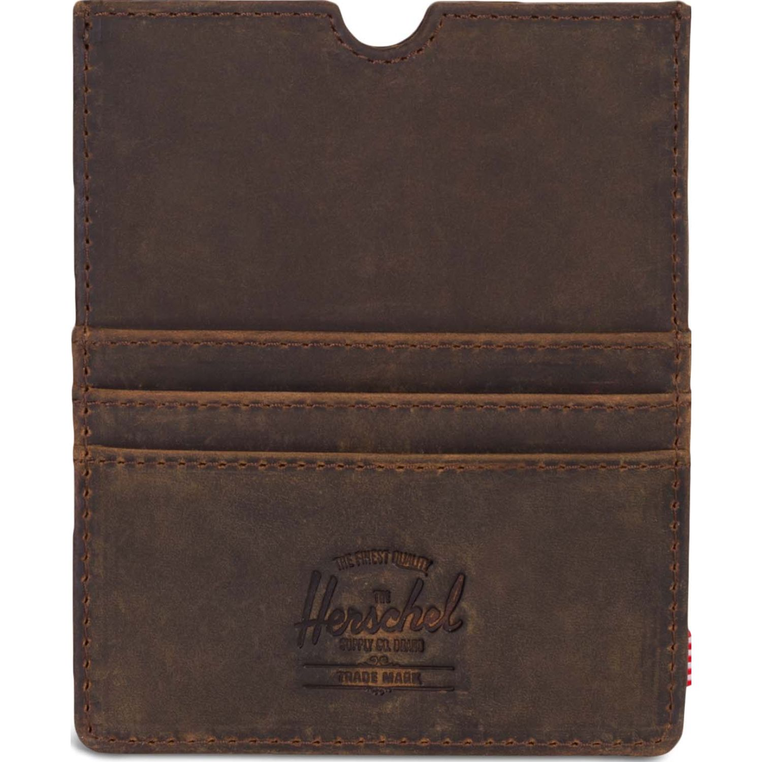 HERSCHEL Eugene Leather Rfid Marron Tarjeteros
