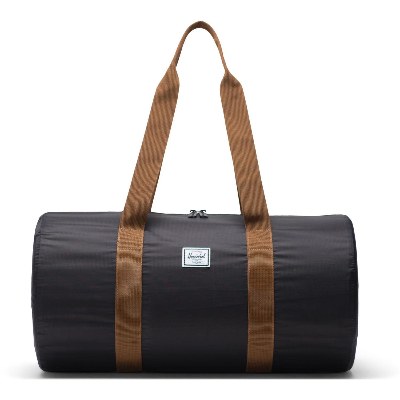 HERSCHEL Packable Duffle Negro / marrón Bolsos tipo Mensajero