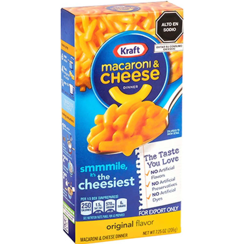 MACARON & CHEESE DINNERS ORIGINAL FLAVOR - CAJA X 206G Sin color Macarrones con queso