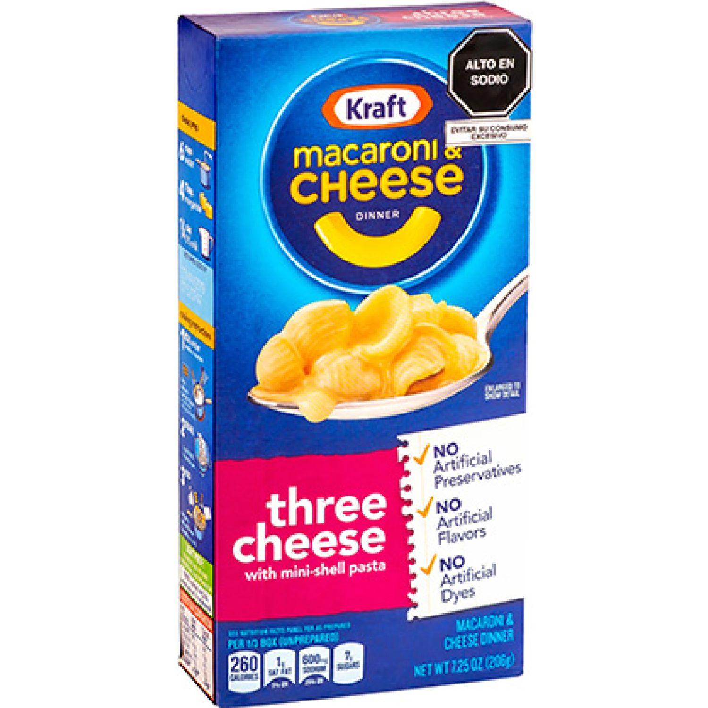 MACARON & CHEESE DINNER THREE CHEESE - CAJA X 206G Sin color Macarrones con queso