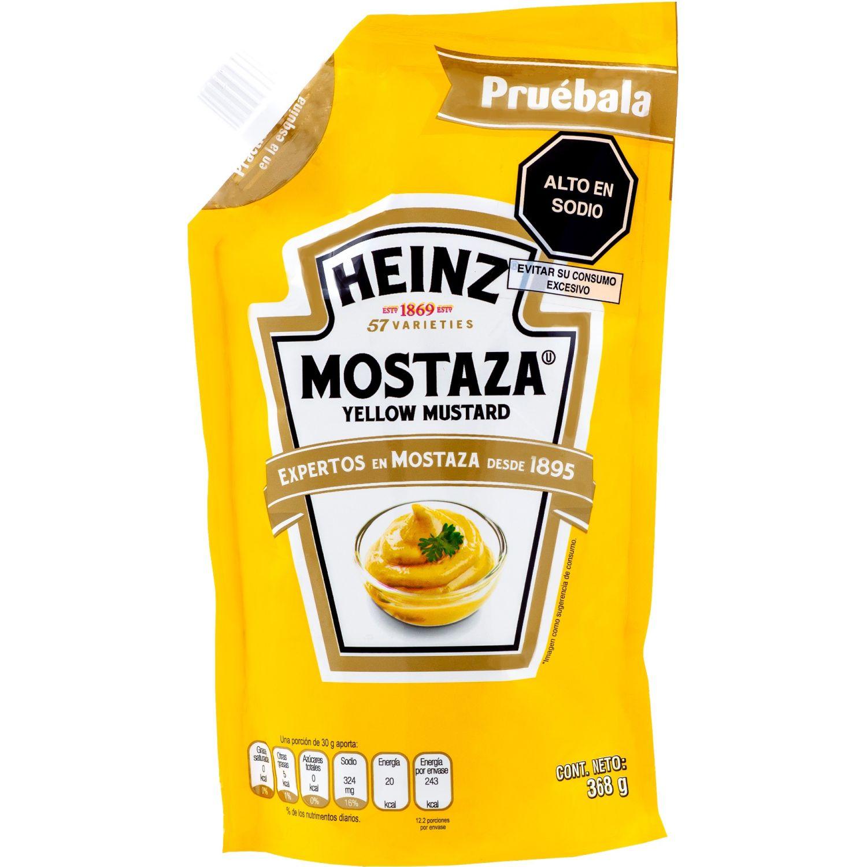 Heinz MOSTAZA DOYPACK 368G Sin color Mostaza amarilla