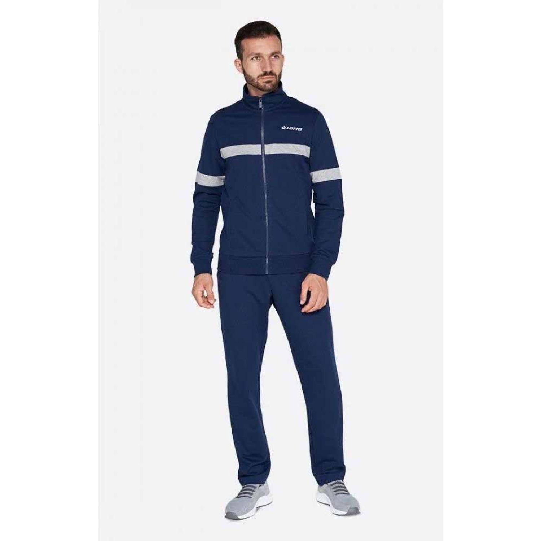 Lotto Suit Dual Ii Bs Rib Ft Azul Buzos deportivos