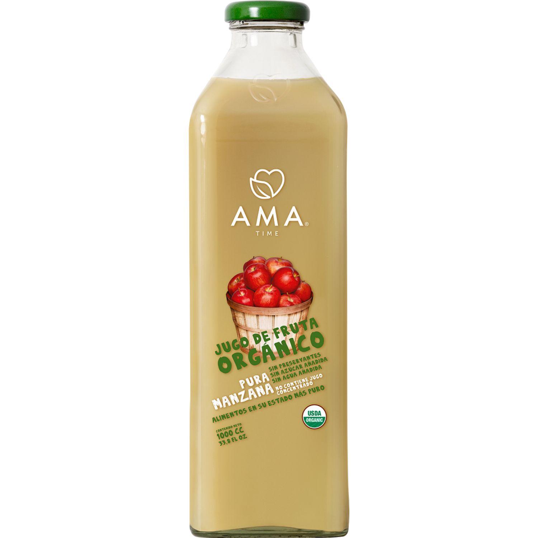 Ama Time Jugo Orgánico Manzana x 1000ml Sin color Zumo de frutas