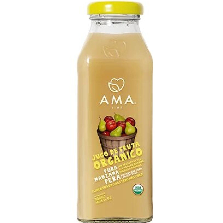 Ama Time Jugo Orgánico Manzana y Pera x 300ml Sin color Zumo de frutas