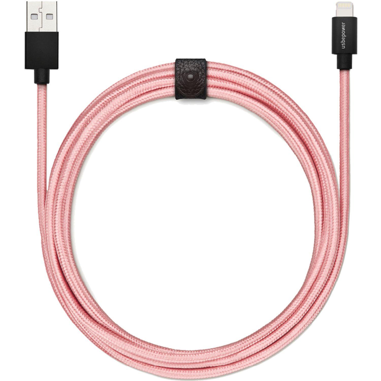 USBEPOWER Cable Usb para apple  Fab 250 ed l ROSADO / DORADO Los cables de datos y alimentación