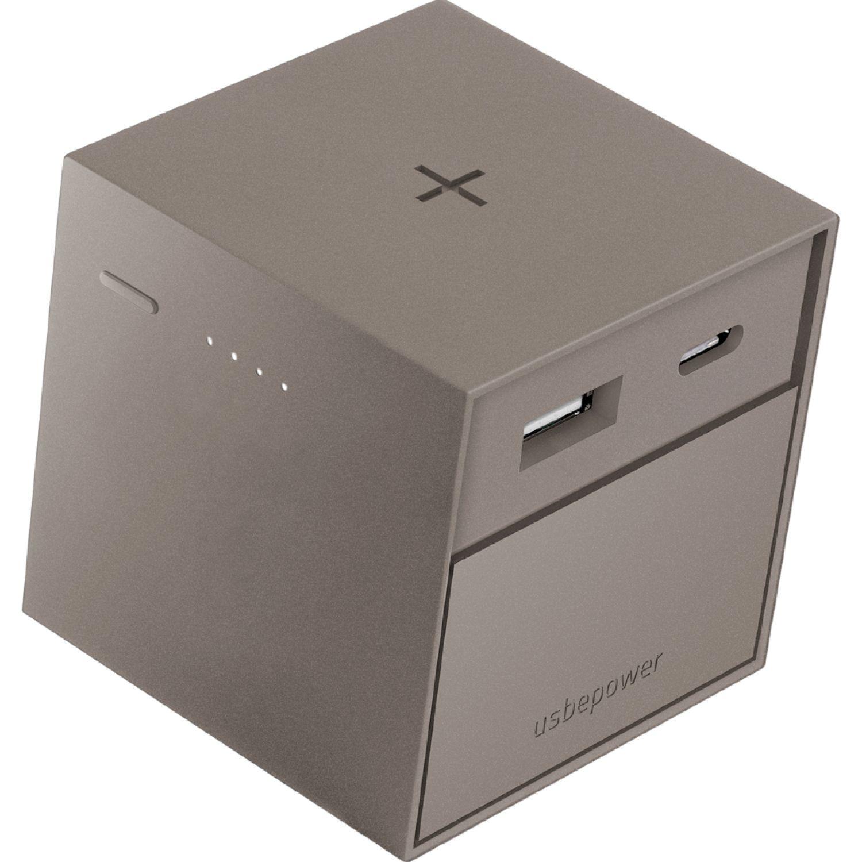 USBEPOWER Cargador Inalámbrico 3.000 Mah Cubo Gris Paquetes de baterías externas