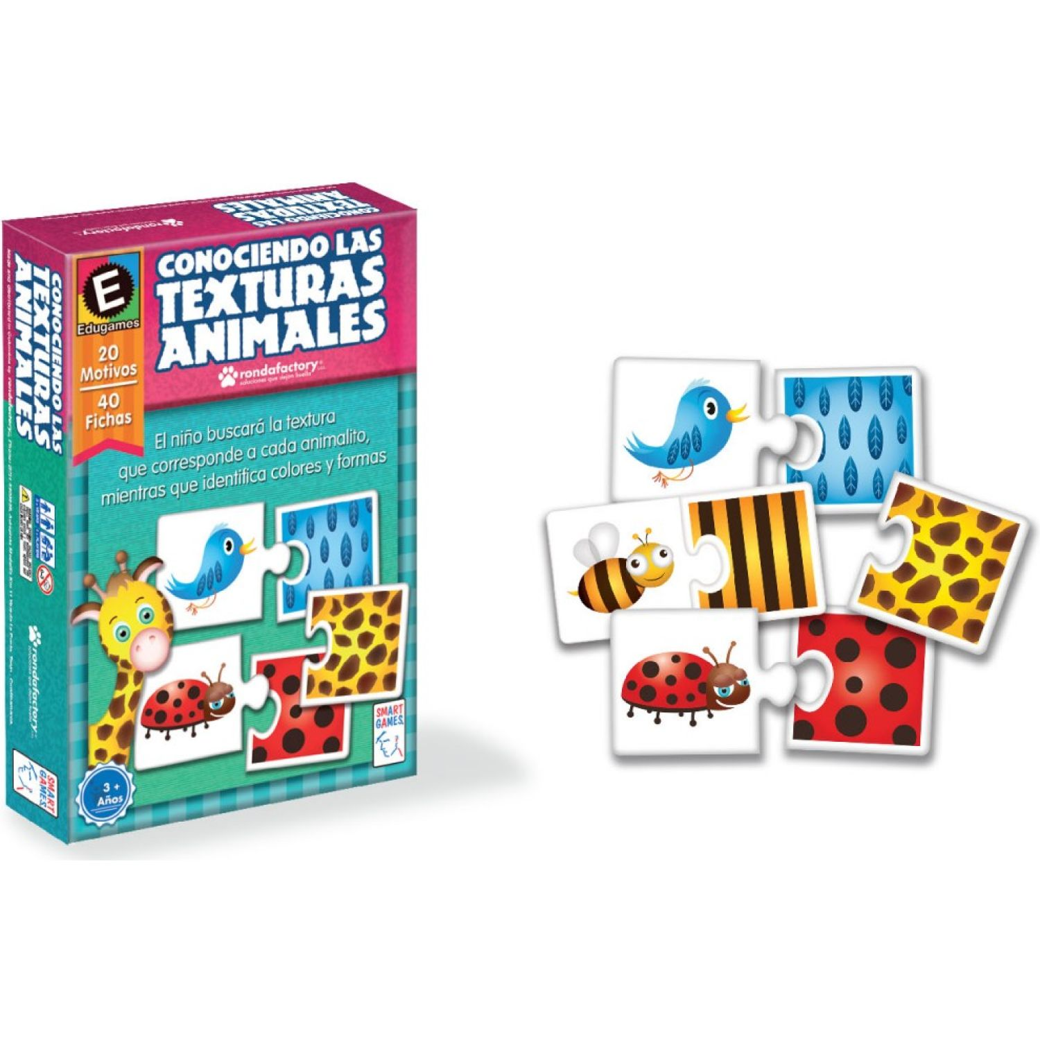 RONDA TEXTURA ANIMALES SMART GAMES MULTICOLOR Juegos de Mesa
