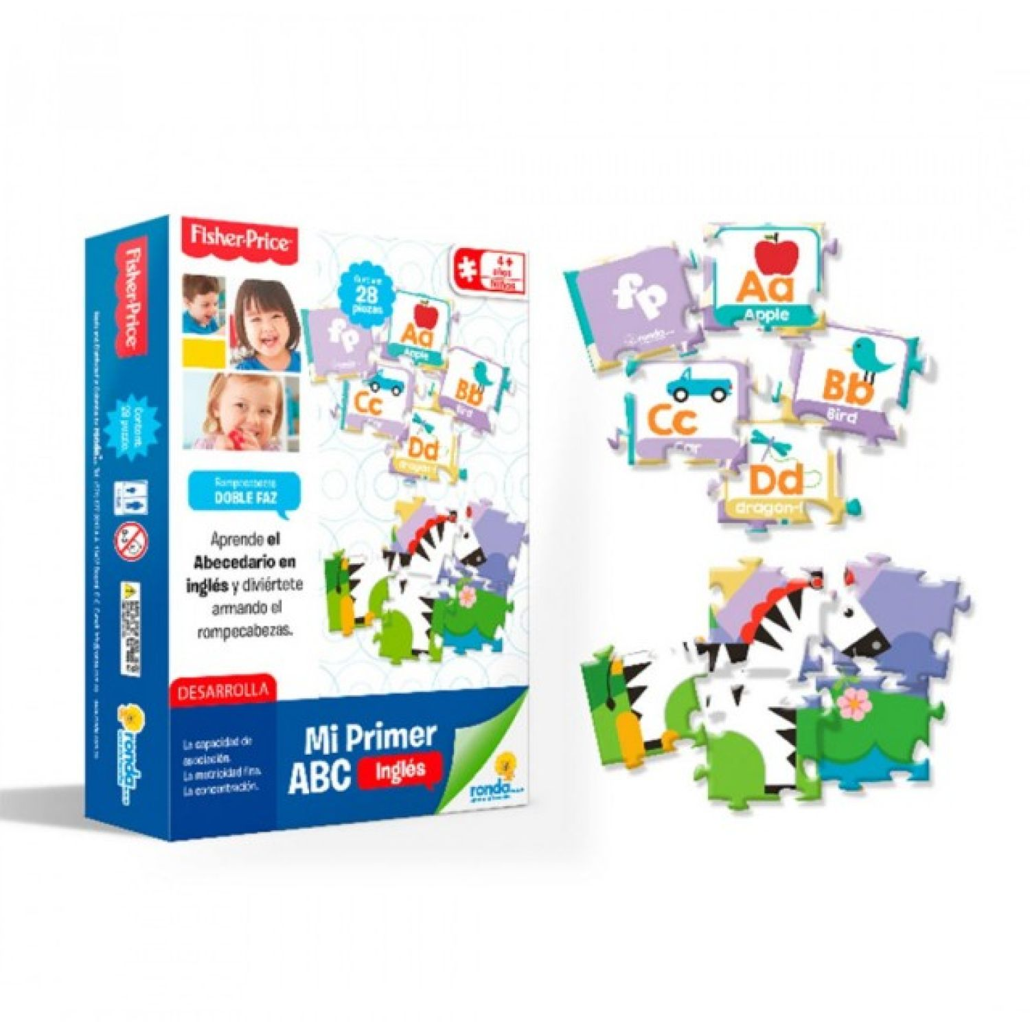 Fisher Price Mi Primer Abc MULTICOLOR Rompecabezas 3-d
