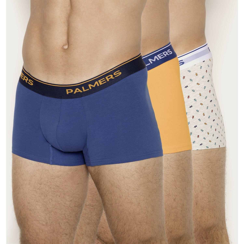 PALMERS Pack 3 Boxer Corto Algodón Naranja / azul Calzoncillos
