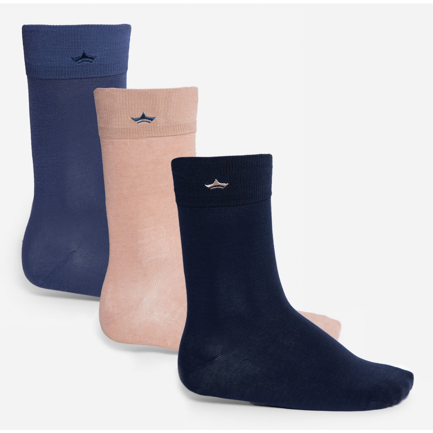 PALMERS Pack 3 Calcetines Hilo Azul / beige Calcetines