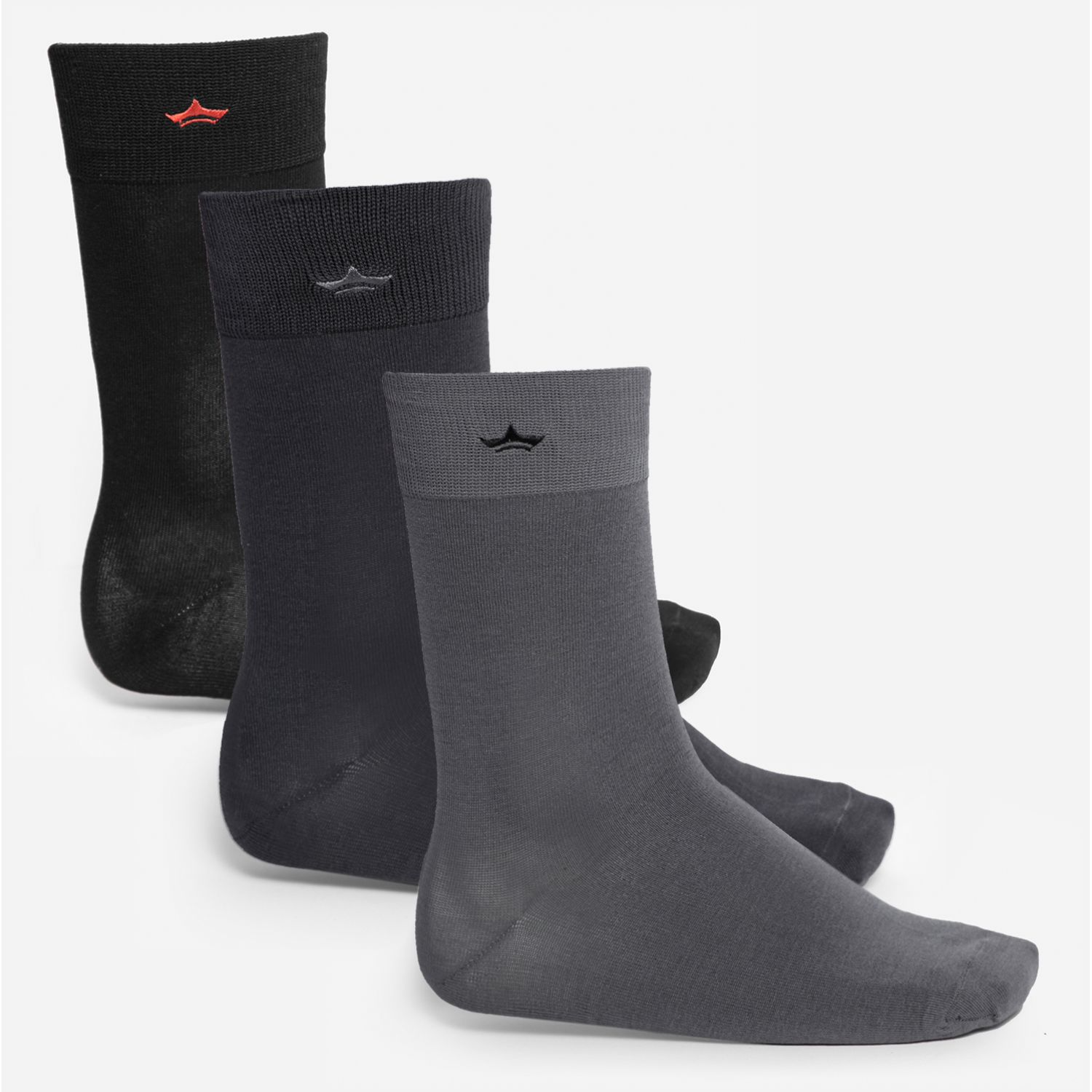 PALMERS PACK 3 CALCETINES HILO Negro / acero Calcetines