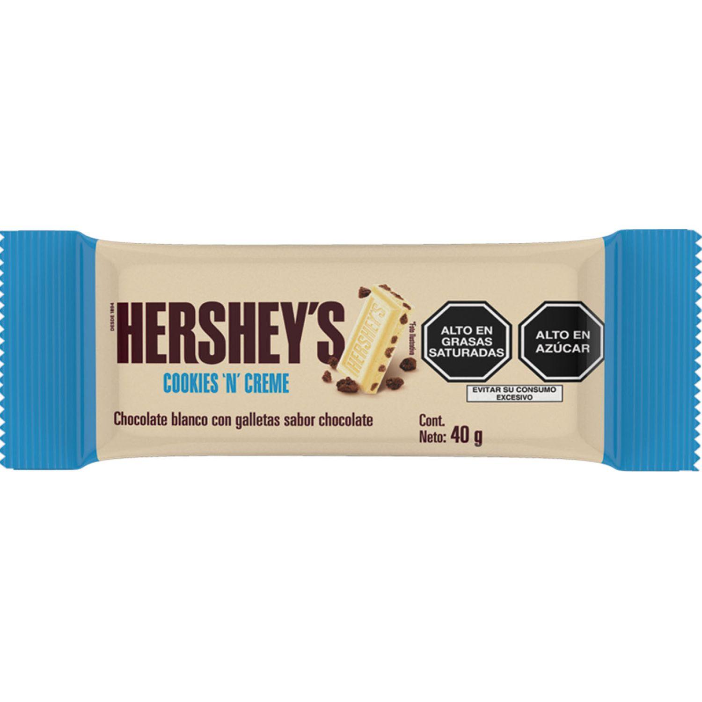 HERSHEY'S Tableta Cookiesncream 40gr Sin color Caramelo y chocolate Bares