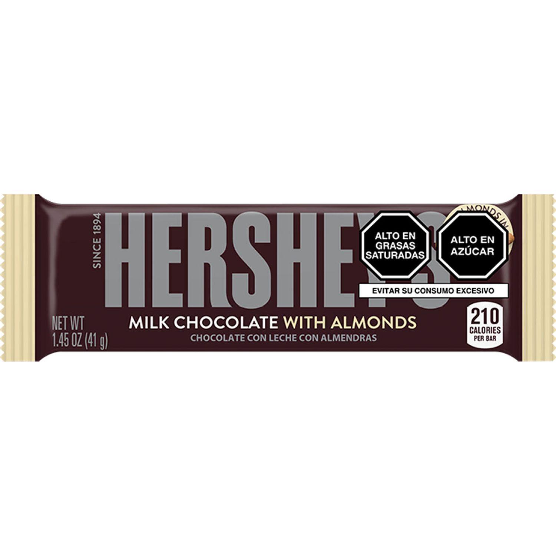 HERSHEY'S Tableta Chocolate C/Almendra 41g Sin color Barras de caramelo y chocolate
