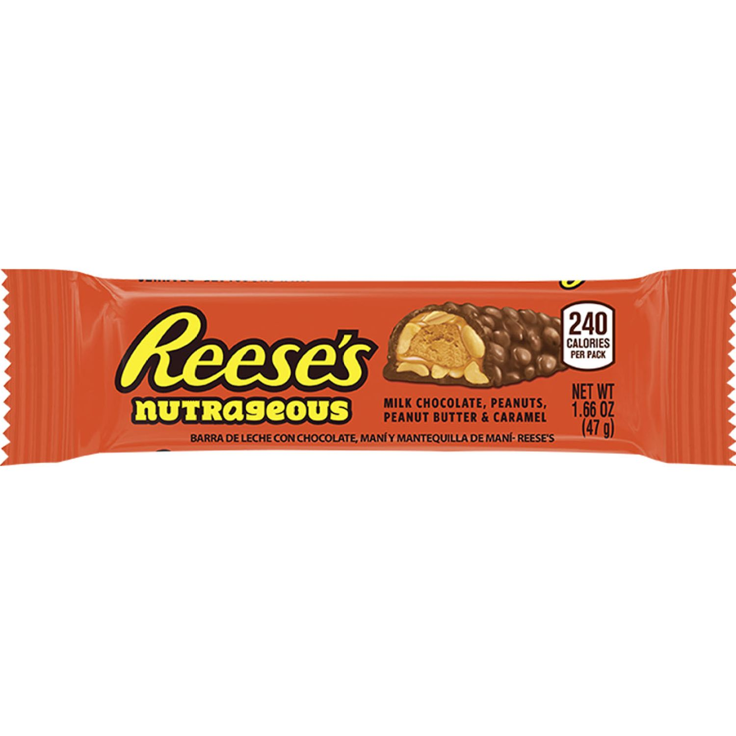 HERSHEY'S Reese's Barra 47gr Sin color Caramelo y chocolate Bares