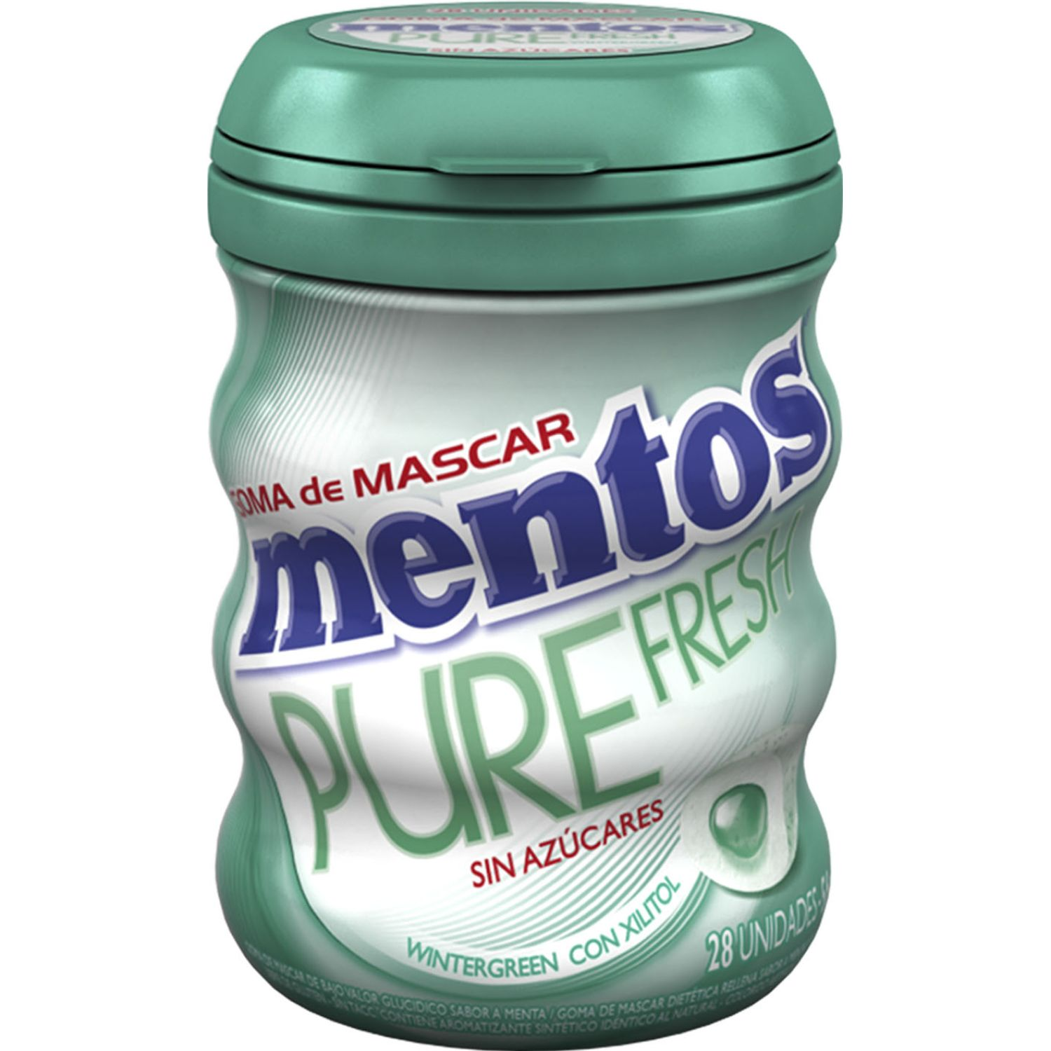MENTOS Mentos Pure Fresh Wintergreen Disp Sin color mentas