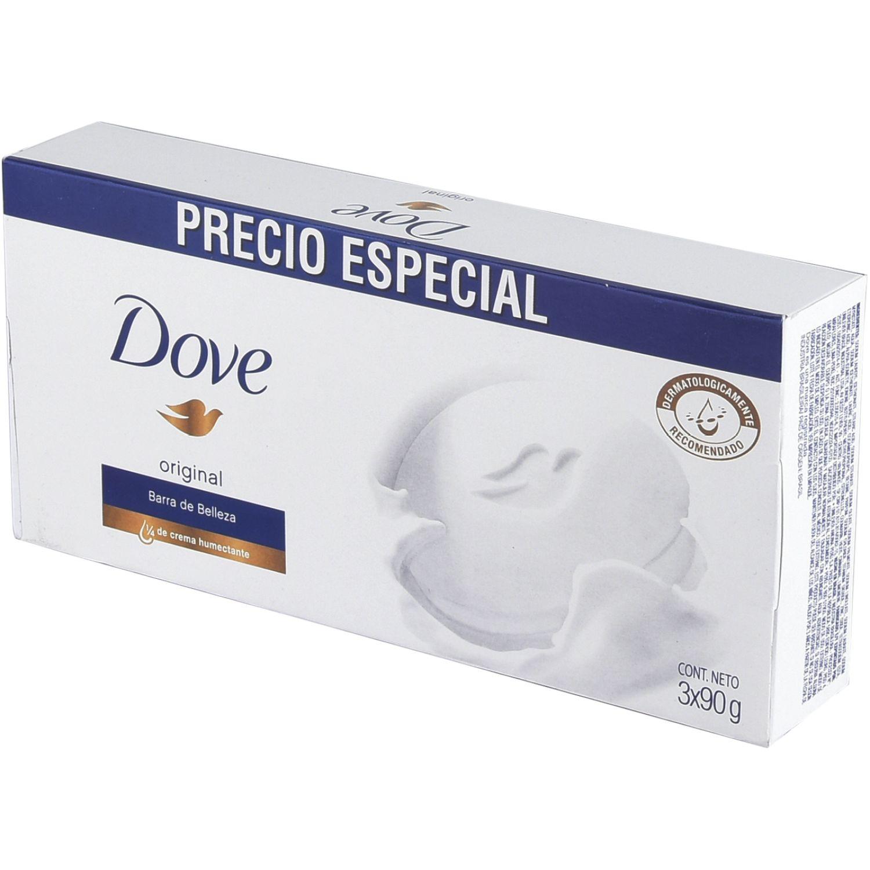 DOVE Barra de Belleza Original 3pack x 90g Sin color lavados