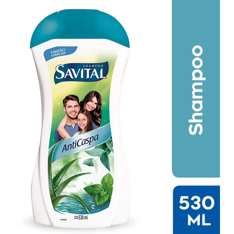 SAVITAL Shampoo Anticaspa 530ml Sin color Shampoo de diario