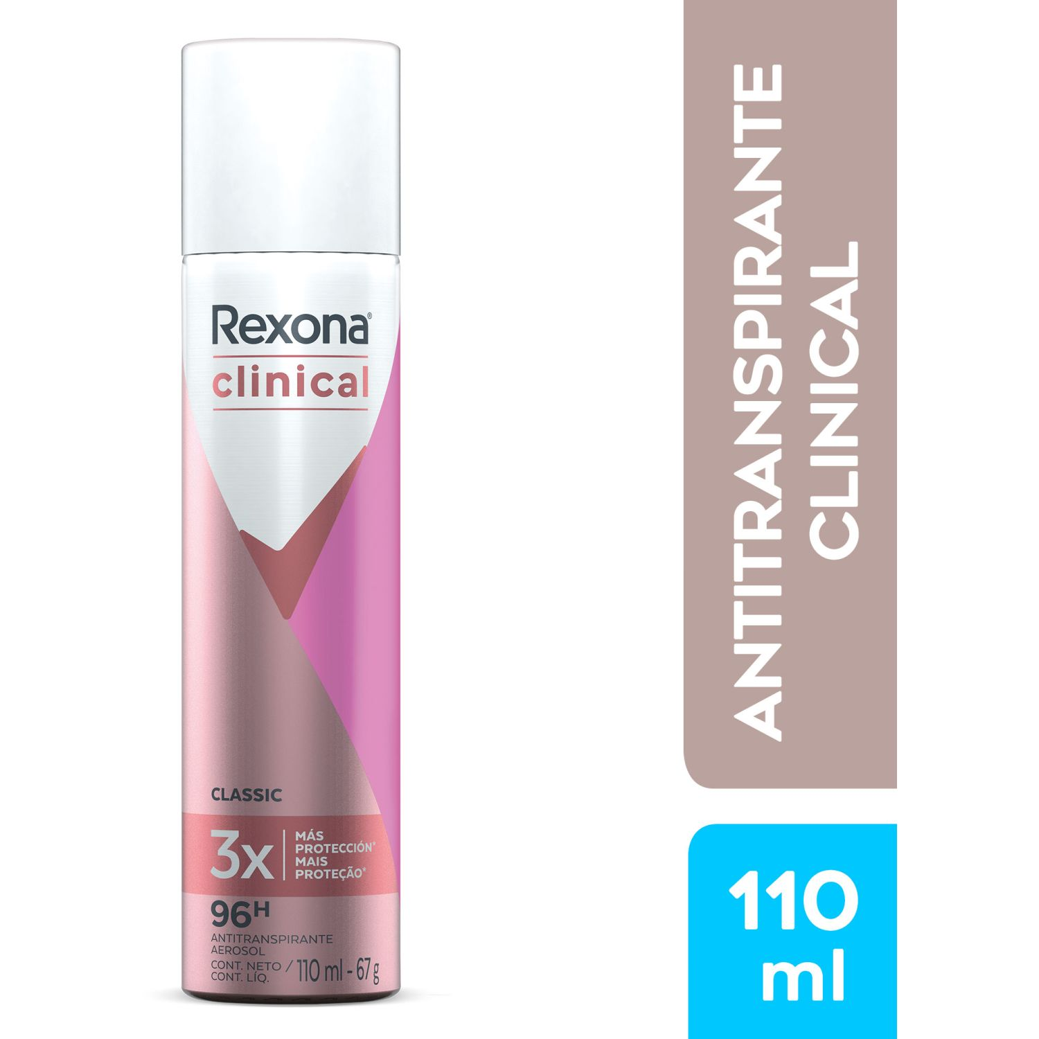 REXONA Clinical Women Aerosol 110ml Sin color Antitranspirantes