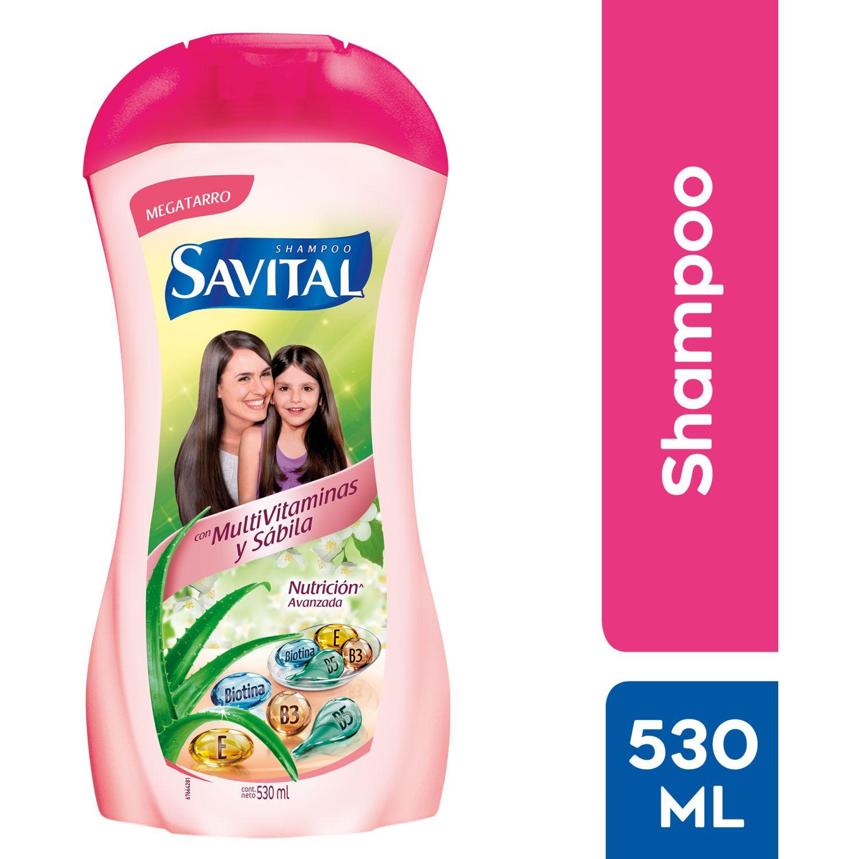 SAVITAL Shampoo Multivitaminas 530ml Sin color Shampoo de Diario