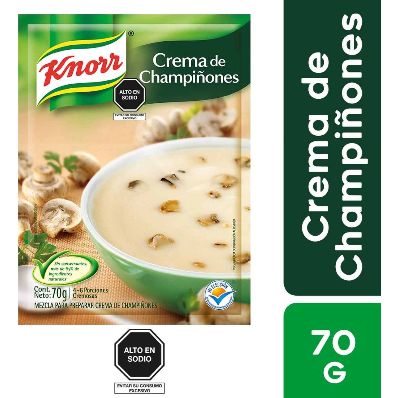 KNORR Crema de Champignones Sobre 64g Sin color Sopas, guisos y chile
