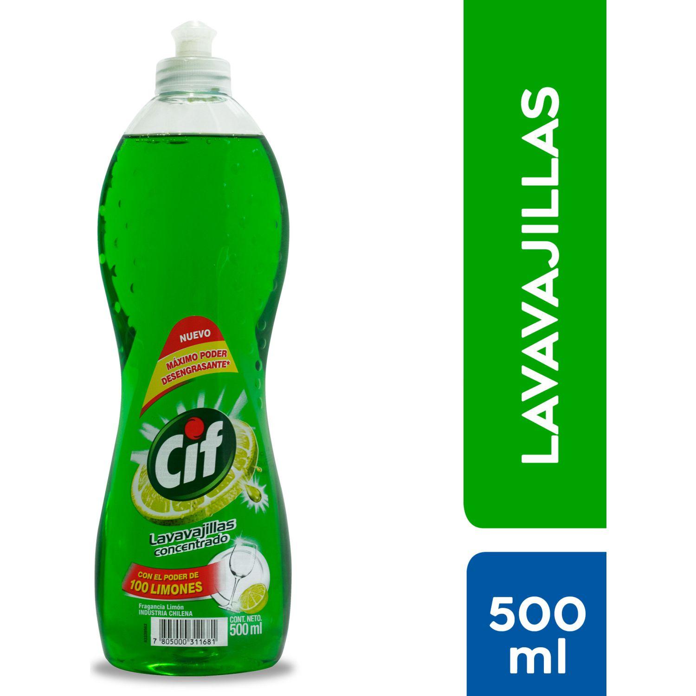 CIF Lavavajillas Líquido Botella 500ml Sin color Lavaplatos Limpiadores