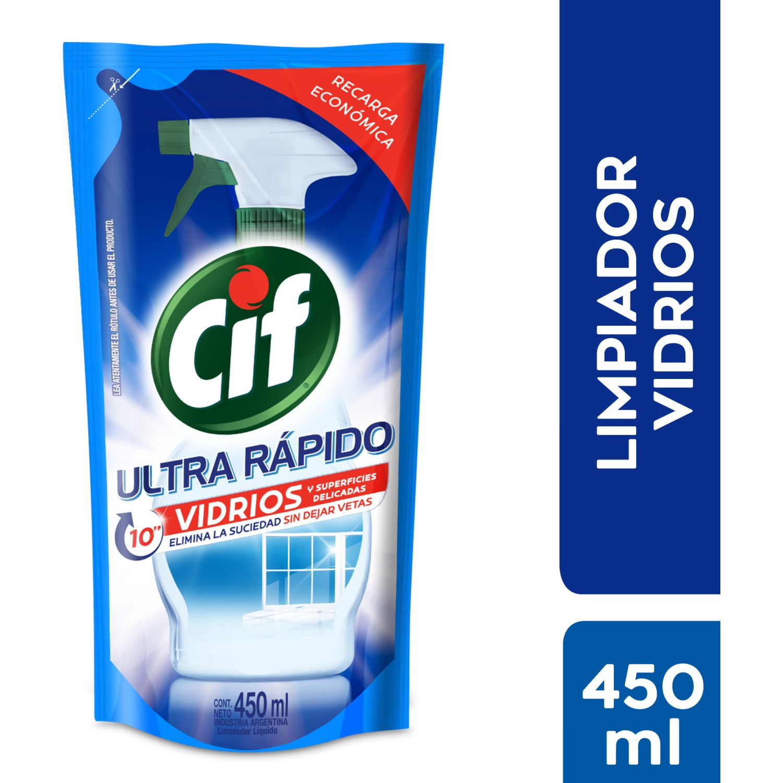 CIF Vidrios Doypack Recarga 450ml Sin color Limpiadores de cristal