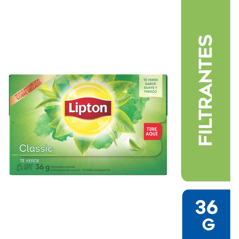 LIPTON Té Verde X20 Bolsitas Filtrantes Sin color Té