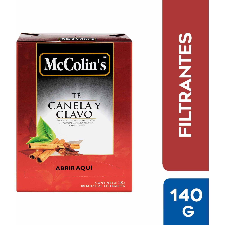 McColins Té Canela Y Clavo X100 Bolsitas Sin color Negro