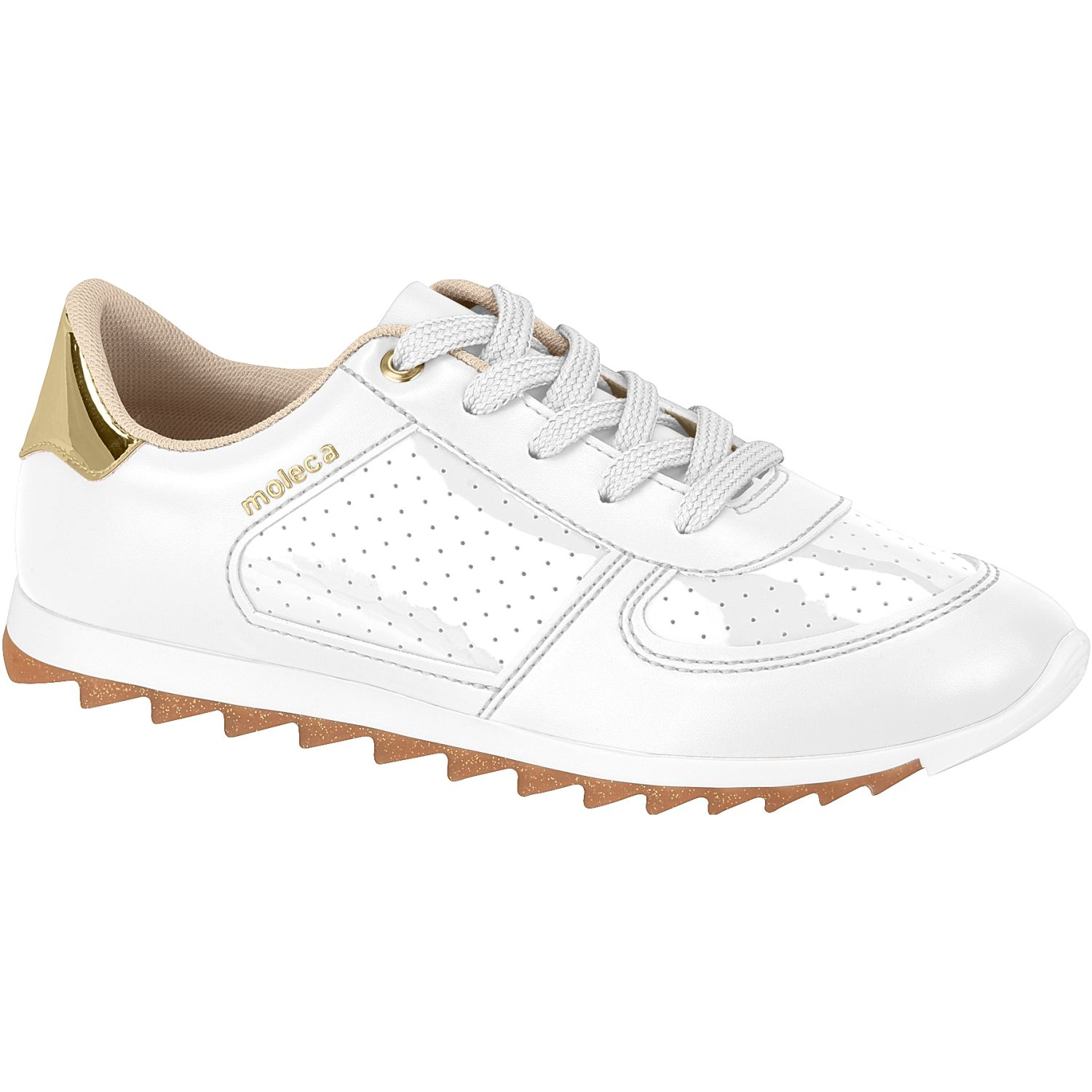 MOLECA 5690.105.20389-17165 Blanco / dorado Zapatillas Fashion