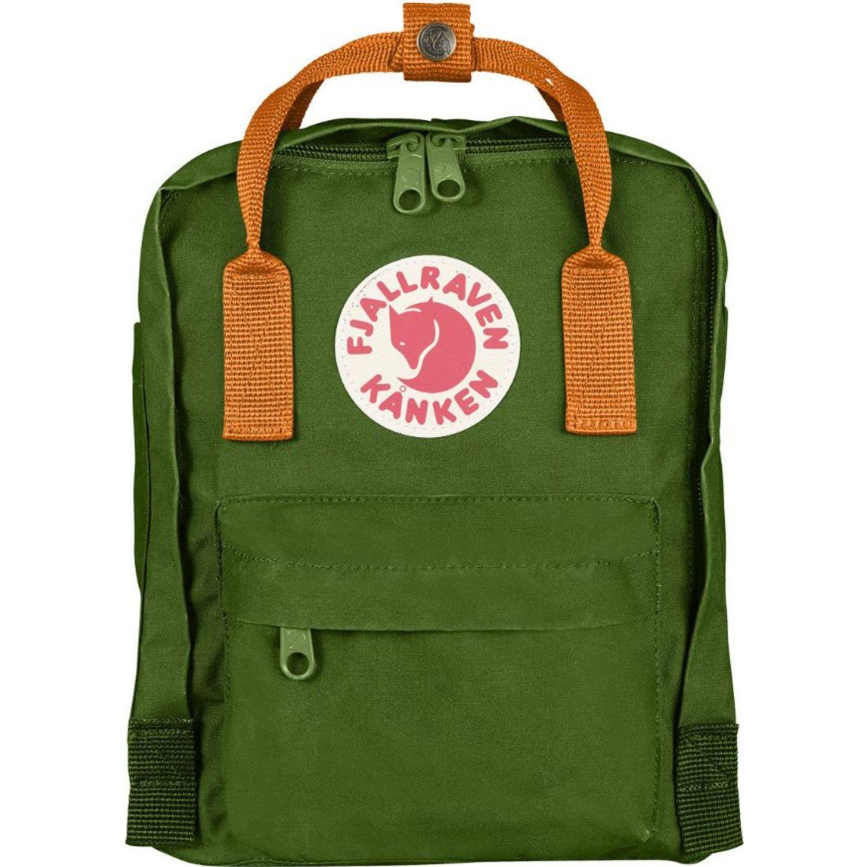 FJALLRAVEN Kanken Mini Verde / amarillo mochilas