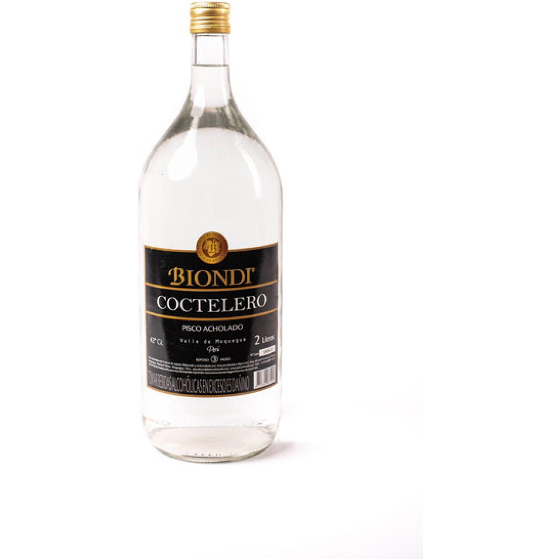PISCO BIONDI Pisco Coctelero Acholado X 2 Litros Sin color Brandy y aguardientes