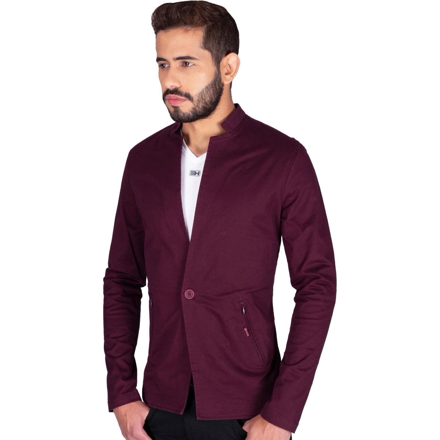 The Cult Blazer Drill, Slim Fit Burgundy Abrigos deportivos y blazers