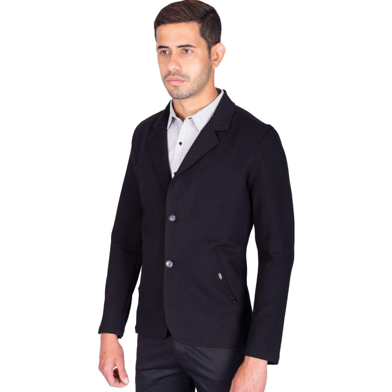 The Cult Blazer Tejido Especial, Slim Fit Negro Abrigos deportivos y blazers