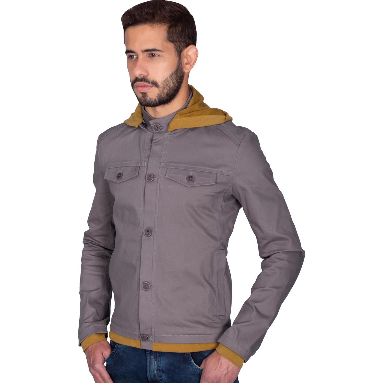 The Cult Casaca Drill, Slim Fit, Teñido Marron / Beige Denim