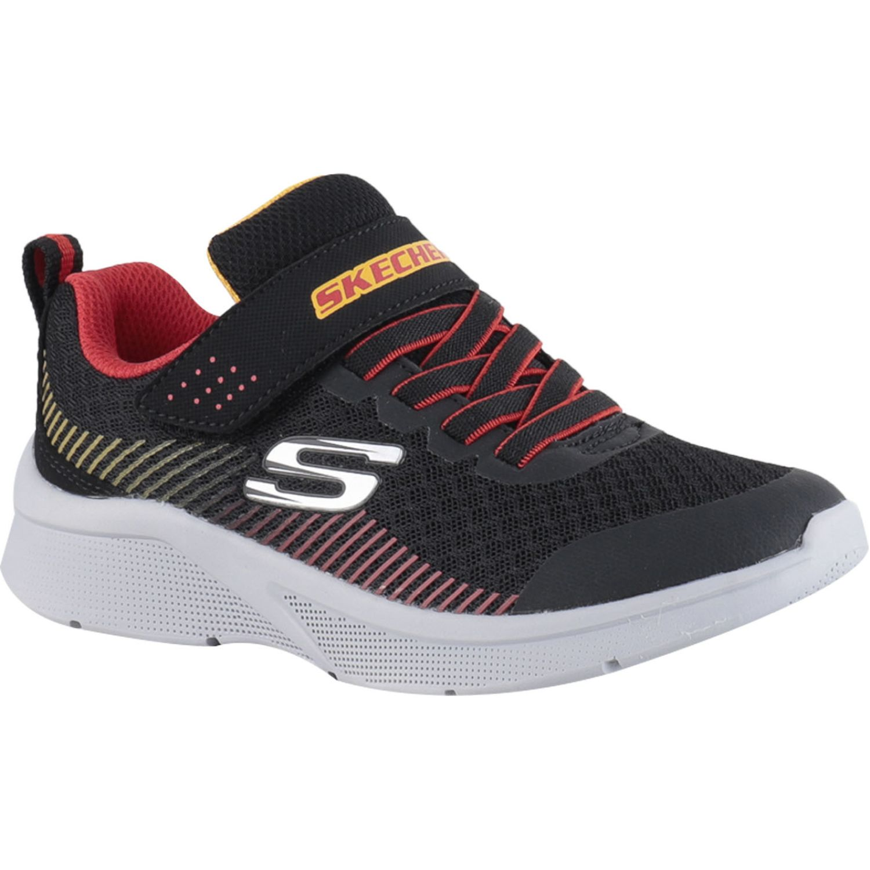 Skechers Microspec Negro / rojo Para caminar